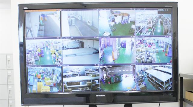 監視カメラとモニターで厳しく監視